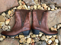 Born Mila Brown Leather Motorcycle/ Western Short Boots US 8 EU 39  B50723