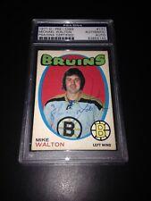 Mike Walton Signed 1971-72 O-Pee-Chee OPC Bruins Card PSA Slabbed #83855140