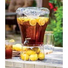 Picnic Drink Dispenser 3.5 GL Large Beverage Pitcher Steel Spigot Party Server