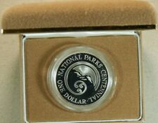 New Zealand - 1987 - Silver Dollar Proof & Uncirculated Coins - National Parks