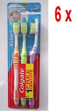 6 x COLGATE Zahnbürste Extra Clean - 3er Pack - Mittel