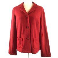 Talbots Women's Size Small Red Textured Wool Blend Blazer