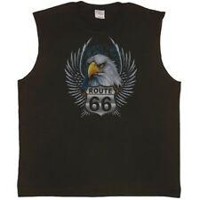 Route 66 Eagle Biker Tee tank top Sleeveless T-shirt