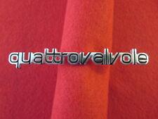 Ferrari Quattrovalvole Badge Logo Script Emblem - Rare Original Quattro Valvole