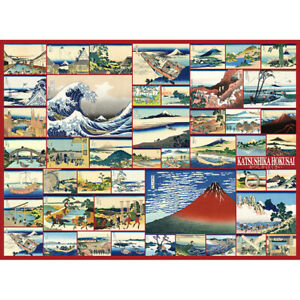 Wooden Jigsaw Puzzle Japanese Ukiyoe Katsushika Hokusai Fugaku 36 Prints Decor