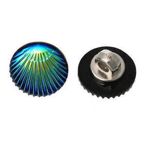 Acrylic Buttons Blue/Green Shell 12mm Shank Pack Of 10