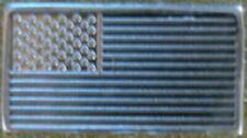 American Flag - 1 GRAM GR G .999 Fine Pure Solid Silver Bullion Bar