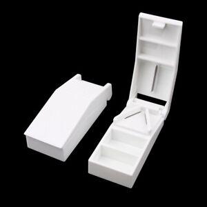 PILL CUTTER Splitter Half Storage Compartment Box Medicine Tablet Holder Safe UK