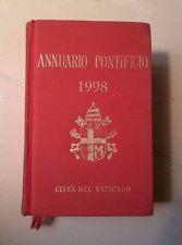 ANNUARIO PONTIFICIO 1998 CITTA' DEL VATICANO