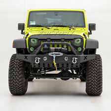 07-17 Jeep Wrangler JK Rock Crawler Recovery Front Bumper+Fog Light Hole+D-Ring