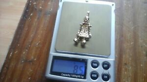 9 CT YELLOW GOLD CLOWN PENDANT 8.5 GRAMS NOT SCRAP