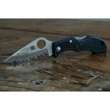 "Spyderco Ladybug 3 Knife 1.93"" Serrated VG10 Steel Blade FRN Handle 2.48"" Closed"