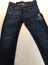 "Nuevo Con Etiquetas Abercrombie & Fitch Clásico Forma Cónica rasgada Blue Jeans. tamaño 31""W X 32""L"
