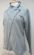 Ladies PUMA Asym Fleece Jacket Full Zip Black Grey S M L XL 14 Light Grey