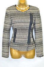 ZARA WOMAN Aztec print boucle blazer jacket XS