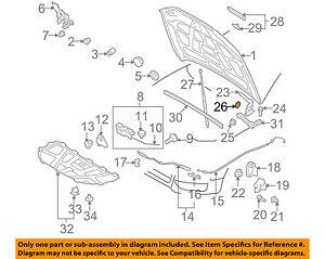 AUDI OEM 10-17 A5 Quattro Hood-Hinge Bracket 8T0823229