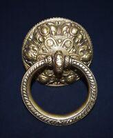 Tibetan Solid Brass Heavy Door Knocker Hand Craved Home Front Doorbell CA19