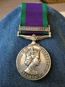 Northern Ireland CSM Medal Argyls & SH - 24525477 PTE S FLETCHER A AND SH