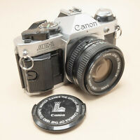 Canon AE-1 Program c/w Canon FD 50mm f/1.8 - Tested/100% - New Seals - Superb