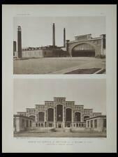 L'ARCHITECTE 1929 LYON, TONY GARNIER, ABATTOIR, HALLE