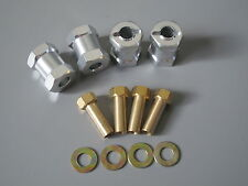 2 Pairs 17mm Aluminum Wheel Hub Spacer Fit RC4WD Kyosho Tamiya RC 1/10 12mm hex