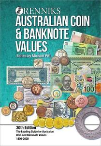 2020 Renniks Australian Coin & Banknote Values Soft Cover Catalogue 30th Edition