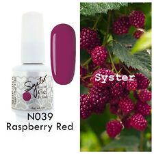 SYSTER 15ml Nail Art Soak Off Color UV Lamp Gel Polish N039 - Raspberry Red