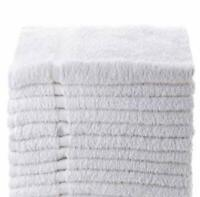 12 pack new white 20x40 cotton absorbent hotel bath towels riegal selects