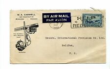 1947 Seven cent airmail Egg Grading Machine advertising cover Canada