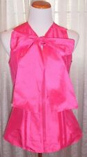 RACHEL ROY FAB BRIGHT PINK , ZIPPER AND SCARF ATTACHED, BEAUTIFUL ELEGANT TOP