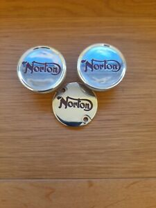 Norton commando seat Fastening knobs and gearbox cover red enameled