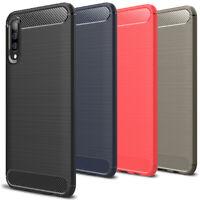 Thin Housse Case pour Samsung Galaxy A50 Coque Protection Caoutchouc Étui Mât