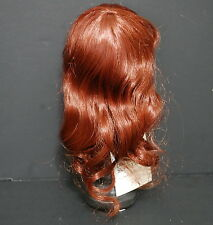 Lou Davis 8-9 Doll wig Danielle Bangs Auburn Long Hair Fits Pullip