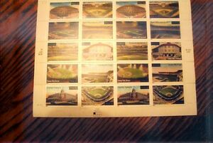 20 BASEBALL  LEGENDARY PLAYING FIELDS STAMPS 1991-2000 34 CENT STAMPS MULTI COL