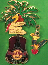 Hard Rock Cafe LAS VEGAS 2012 PINsanity #8 BREAKFAST PARADISE GUITAR PIN #68716