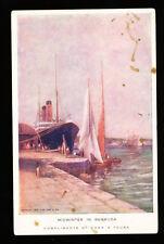 c1908 Cunarder in Bermuda - Cunard Line / Cook's Tours