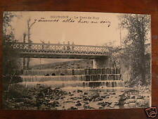 cpa 38 bourgoin le pont du ruy animee