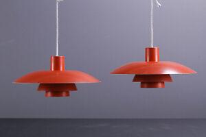 Poul Henningsen PH 4/3 pendant lamp light by Louis Poulsen.  Two Pieces