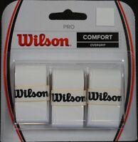 NEW Wilson Pro Overgrip - 3 Pack Tennis Grip Tape Roger Federer RF WHITE