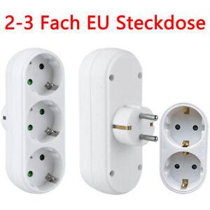 EU Steckdose Steckdosenleiste Mehrfachsteckdose Steckdosenverteiler Adapter DE