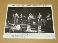 Sensational King Bizkit Blues Band 1991 10 x 8 Photocard (Fully Hand Signed)