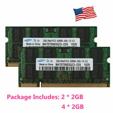 For Samsung 4GB 8GB 2RX8 PC2-5300S DDR2-667MHz 200pin SODIMM Laptop RAM Memory
