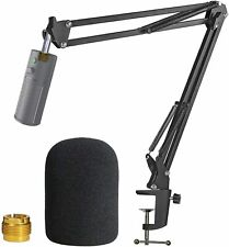Razer Seiren X Boom Arm With Pop Filter - Mic Stand With Foam Cover Windscreen