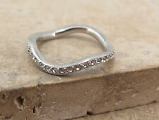 Eternity Ring Size O 7.5 Dkny Gem Stacking Wavy Band Full