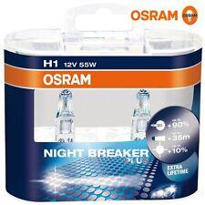 2 x Bombillas Osram Night Breaker Plus H1 +90% Luz Faros Halogeno Lamparas Coche