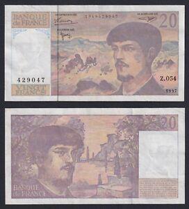 France 20 Francs Debussy 1997 BB VF+ A-02