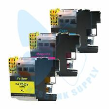 3 CLR New LC 203XL 203 Ink Cartridges For Brother J4620DW J480DW J5720DW J885DW