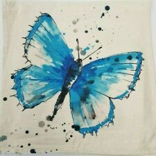 Brand New Cushion Cover Blue Butterfly