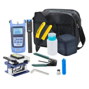 Full Set FTTH Fiber Optic Tool Kit 13 in 1 Fiber Cleaver Optical Power Meter