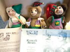 ORIG IN BOX RAIKES BEARS CHRISTMAS CRAFTSMEN TINKER SAWYER & REMBRANDT W/PAPERS